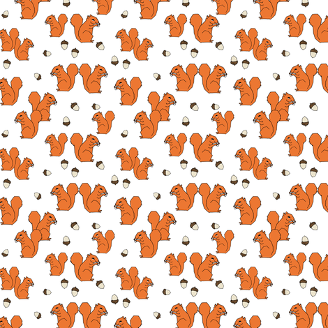 Squirrel fabric squirrels autumn orange fall kids baby for Children s animal print fabric