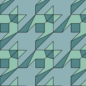 graphic houndstooth in teal
