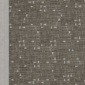 Field - with stripe/border- taupe, grey