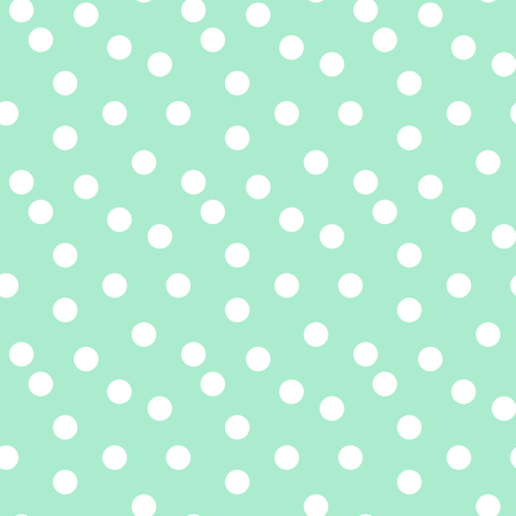 Polka Dots - Pistachio (Small Version) by Andrea Lauren fabric by andrea_lauren on Spoonflower - custom fabric