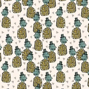 pineapples // sweet pineapple tropical print summer sweet kids off-white