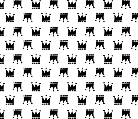 Black crowns fabric by newmomdesigns on Spoonflower - custom fabric