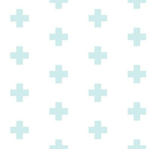 Small mint swiss cross condensed