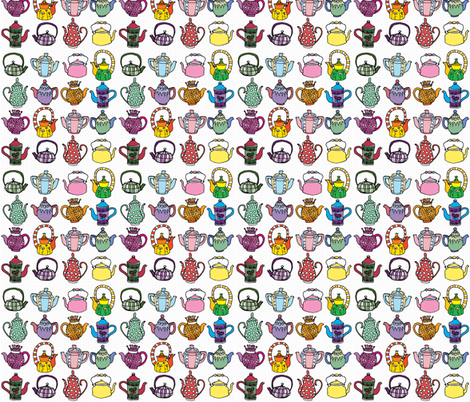 Teapots fabric by duru_eksioglu on Spoonflower - custom fabric