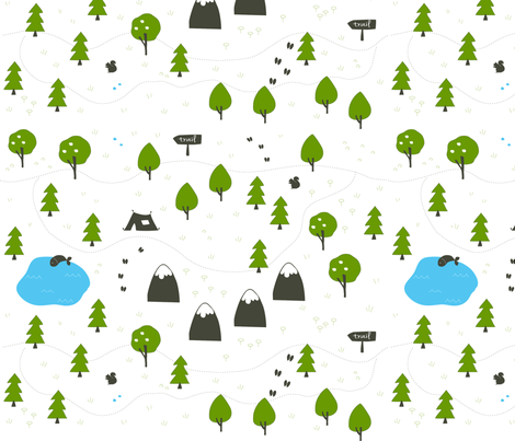 Going Hiking fabric by fleetingred on Spoonflower - custom fabric