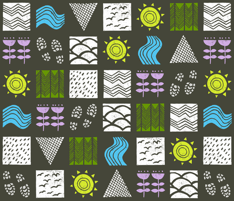 come rain and shine fabric by mumbojumbo on Spoonflower - custom fabric