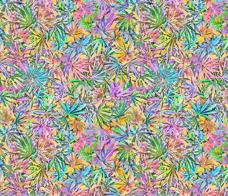 Cannabis Chaos fabric by camomoto on Spoonflower - custom fabric