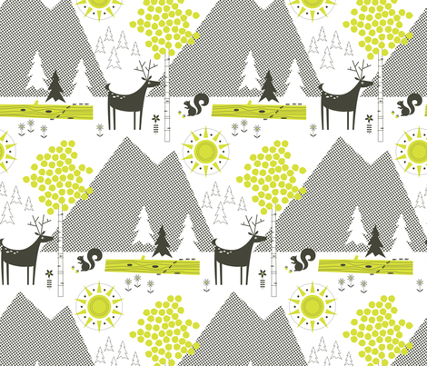 Ants on a Log fabric by katerhees on Spoonflower - custom fabric