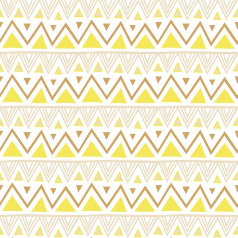 Pastel Tribal - Yellow fabric by kimsa on Spoonflower - custom fabric