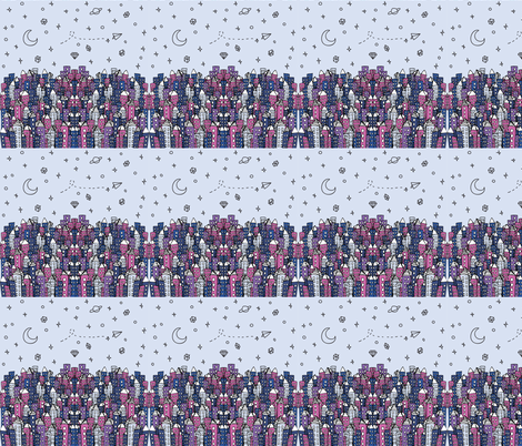 Magical City fabric by duru_eksioglu on Spoonflower - custom fabric