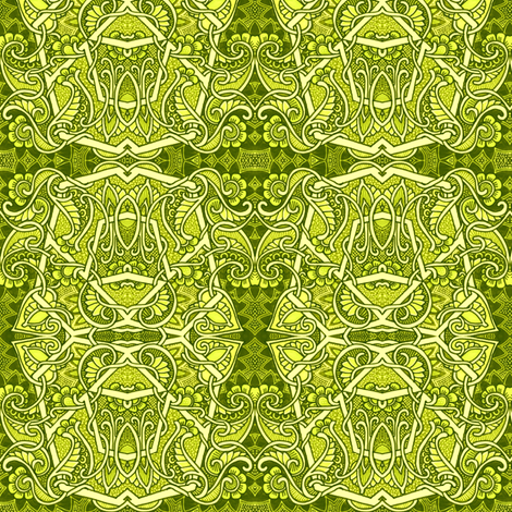 Garden of Meandering Spades fabric by edsel2084 on Spoonflower - custom fabric