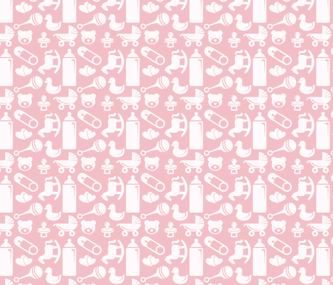 Nursery - 4in (pink) fabric by studiofibonacci on Spoonflower - custom fabric