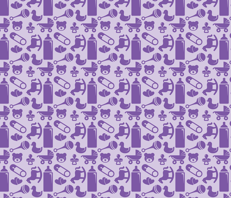Purple Baby Fabric Of Nursery 4in Purple Fabric Studiofibonacci Spoonflower