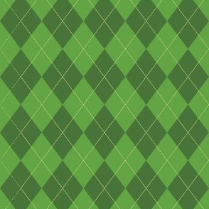 Argyle (green) - 1.5in