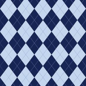 Argyle (blue) - 1.5in