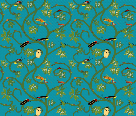 beetle mob scene fabric by mophead on Spoonflower - custom fabric