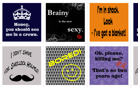 Sherlock lines S1-3 cushions fabric by lysakruger on Spoonflower - custom fabric