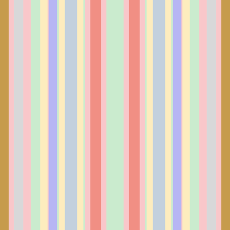 Ice Cream Parlor Stripe  fabric by peacoquettedesigns on Spoonflower - custom fabric