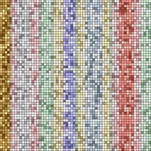 Ice Cream Parlor Stripe ~ Mosaic Tile