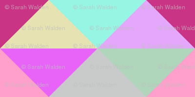 Spring Night Modernist Triangles