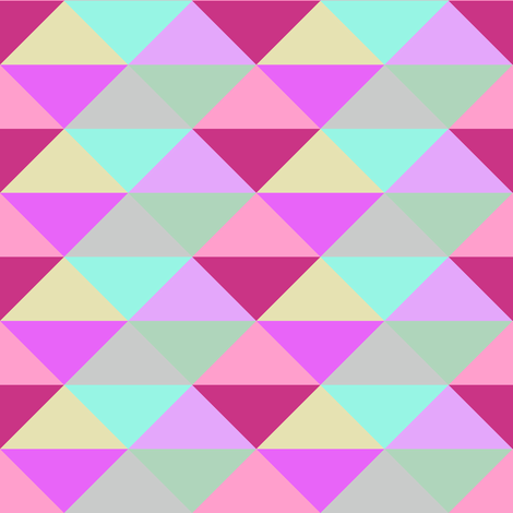Spring Night Modernist Triangles fabric by peacoquettedesigns on Spoonflower - custom fabric