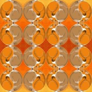 Fox and Rabbit Yin Yang Orange