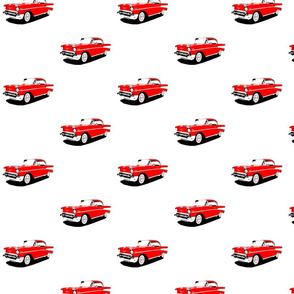 1957 Red Chevrolet Bel Air Soft Top Fabric