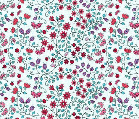 ladybug fabric by kirpa on Spoonflower - custom fabric