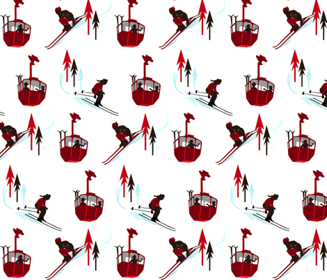 14-Skiersgondola fabric by ginasheldrake on Spoonflower - custom fabric