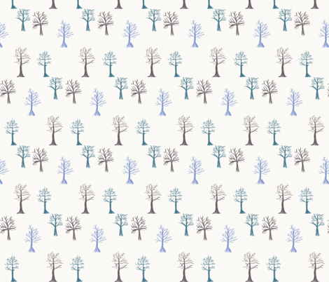 Winter Trees fabric by erin_mcclain_studio on Spoonflower - custom fabric