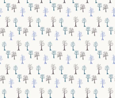 Winter Trees fabric by rainsontheplain on Spoonflower - custom fabric