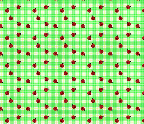 Ladybug_smaller_plaid fabric by mammajamma on Spoonflower - custom fabric