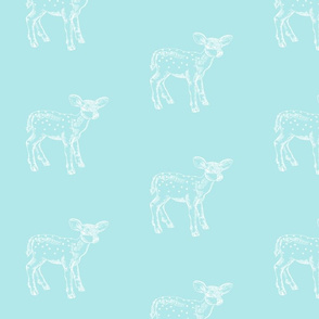 Dear Deer Sky Blue