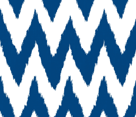 Ikat Chevron in Navy Blue fabric by willowlanetextiles on Spoonflower - custom fabric