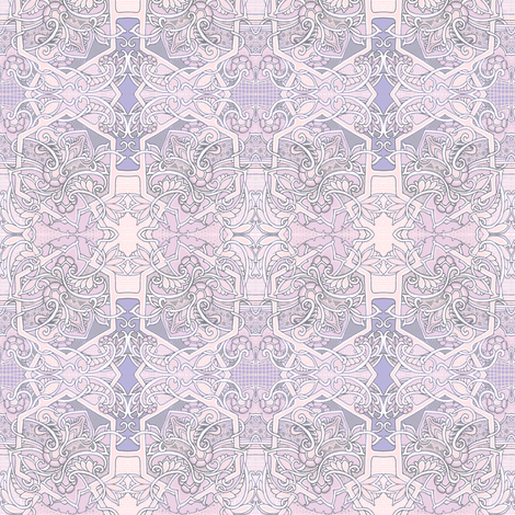 Souls in Pink and Lavender fabric by edsel2084 on Spoonflower - custom fabric