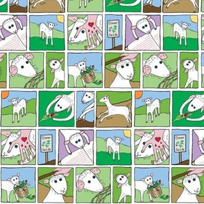 Little Lamb collage