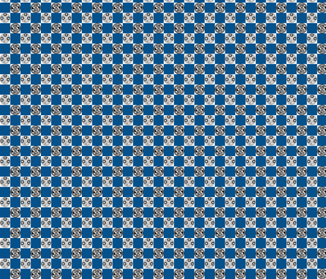 Seal of Rassilon   Blue Checks fabric by kadinh13 on Spoonflower - custom fabric
