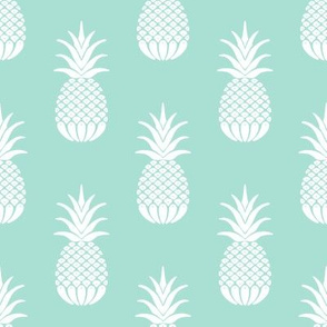 Mint Pineapple Pattern