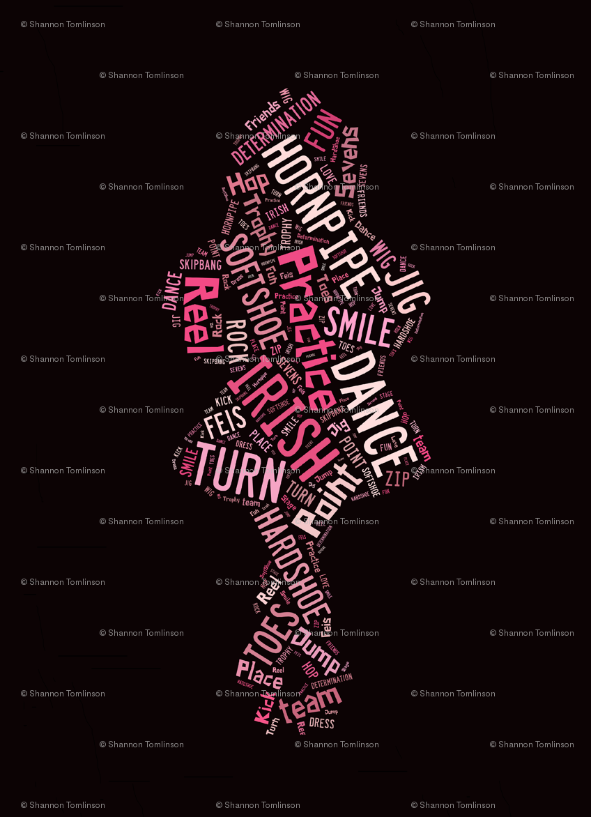 irish dance words larger spaces fabric lilly belle spoonflower