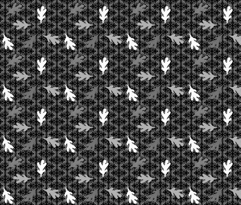 Flower Basket Rows with Leaves (B & W) fabric by whynottryitagain on Spoonflower - custom fabric