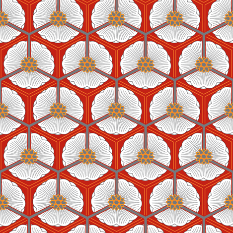 lotus love fabric by keweenawchris on Spoonflower - custom fabric