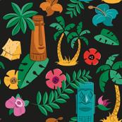 Hawaiian Tiki Print