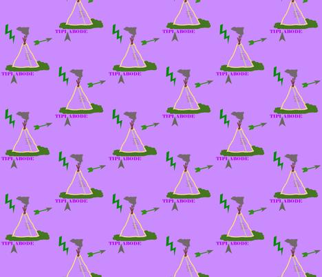 tipi abode fabric by ladybabybear on Spoonflower - custom fabric