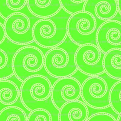 lime swirls pattern