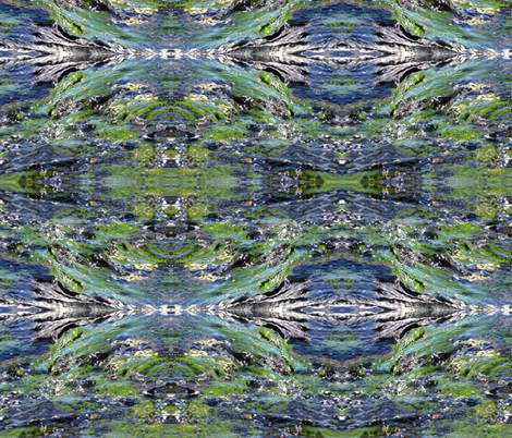 Yosemite River Over Stone fabric by greenedevine on Spoonflower - custom fabric
