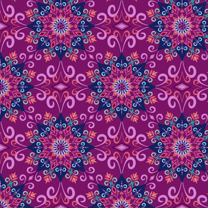 Blooming Mandala-Purple