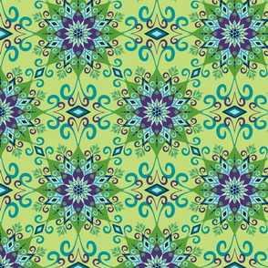 Blooming Mandala-Green