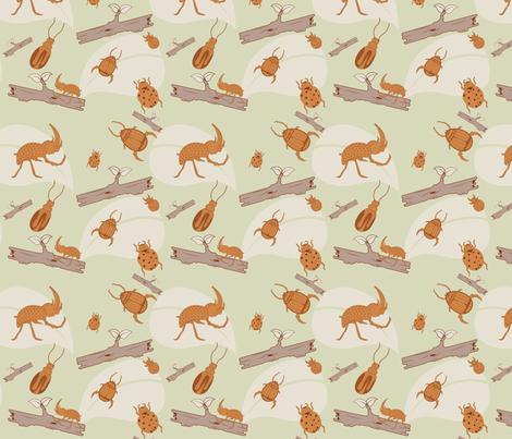 Beetles fabric by svaeth on Spoonflower - custom fabric