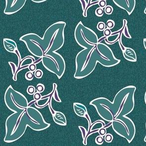 batik-2sprig4x7-mgrn180-2nd-eggpl265-on-dkgrnblpattern150_copy