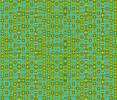 Stained Glass Jungle Blue fabric by bags29 on Spoonflower - custom fabric